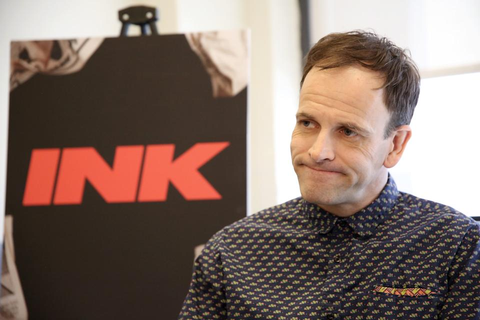 NEW YORK, NY - MARCH 05:  Jonny Lee Miller attends the 'INK' cast photo call and rehearsal at Manhattan Theatre Club Rehearsal Studios on March 5, 2019 in New York City.  (Photo by Walter McBride/WireImage)