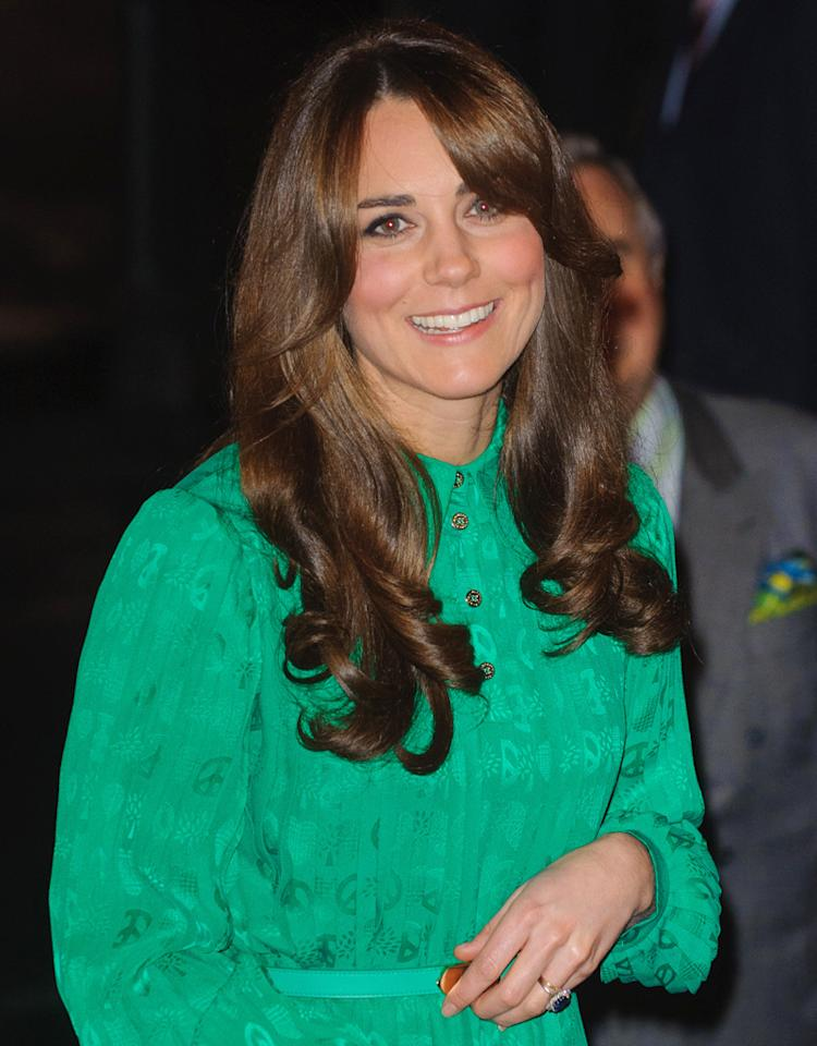 LONDON, ENGLAND - NOVEMBER 27:  Catherine, Duchess of Cambridge attends the official opening of The Natural History Museums's Treasures Gallery at Natural History Museum on November 27, 2012 in London, England.  (Photo by Dominic Lipinski - WPA Pool/Getty Images)
