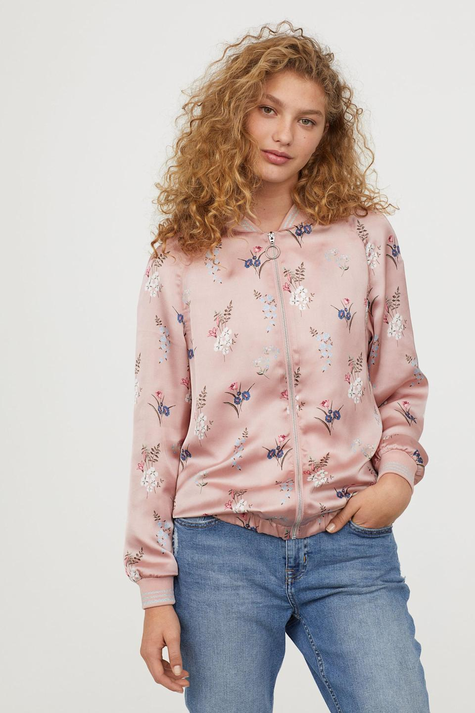 "<p>They'll be the trendiest kid at the bus stop in this <a rel=""nofollow noopener"" href=""https://www.popsugar.com/buy/Satin%20Bomber%20Jacket-366307?p_name=Satin%20Bomber%20Jacket&retailer=www2.hm.com&price=14&evar1=moms%3Aus&evar9=45374878&evar98=https%3A%2F%2Fwww.popsugar.com%2Fmoms%2Fphoto-gallery%2F45374878%2Fimage%2F45375031%2FSatin-Bomber-Jacket&list1=holiday%2Cgift%20guide%2Cparenting%20gift%20guide%2Cgifts%20for%20kids%2Ckid%20shopping%2Ctweens%20and%20teens%2Cgifts%20for%20teens&prop13=mobile&pdata=1"" target=""_blank"" data-ylk=""slk:Satin Bomber Jacket"" class=""link rapid-noclick-resp"">Satin Bomber Jacket</a> ($14, originally $40).</p>"
