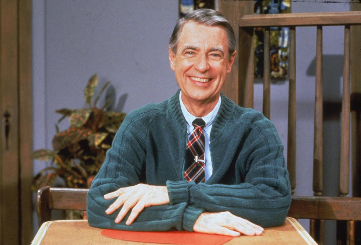 """American educator and TV personality Fred Rogers of the television series """"Mister Rogers' Neighborhood,"""" circa the 1980s. (Photo: Fotos International/Courtesy of Getty Images)"""
