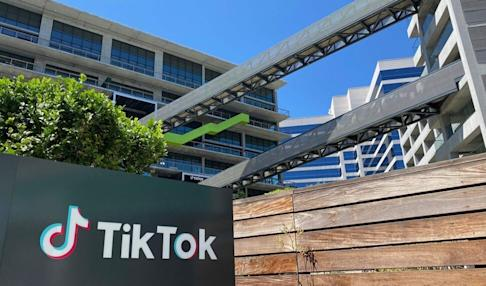 TikTok's new office space at the C3 campus in Culver City, on the west side of Los Angeles, California. Photo: Agence France-Presse