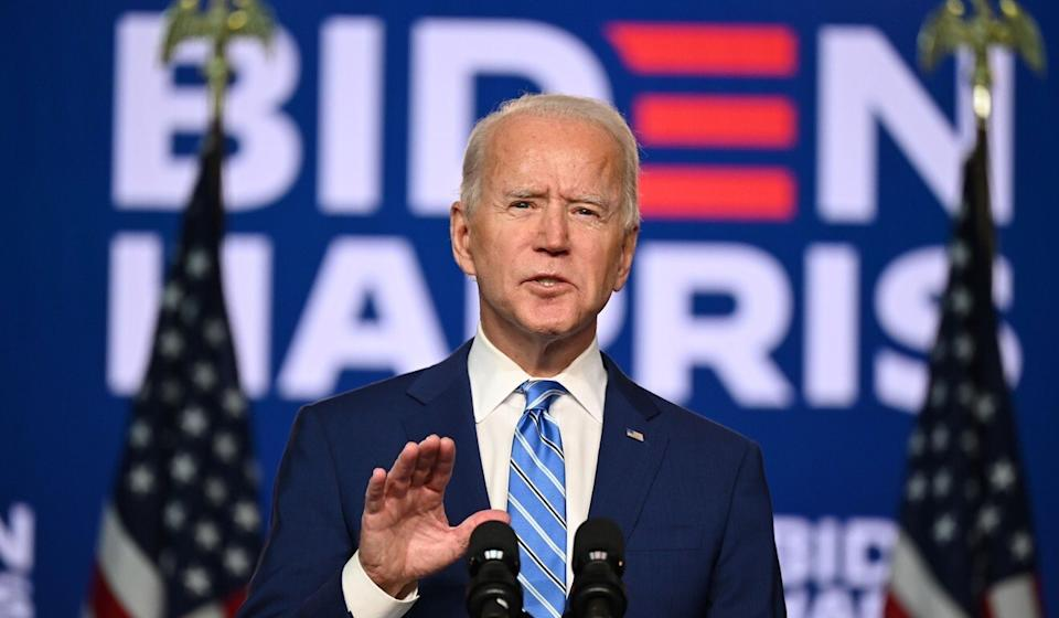 Biden predicted he would claim victory in the hard-fought election. Photo: AFP