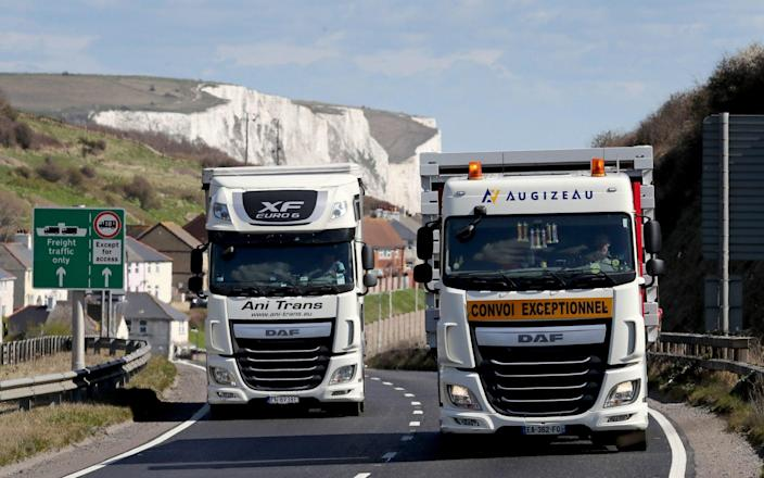 """Its removal will mean """"less paperwork for hauliers"""", the DfT added. - PA"""
