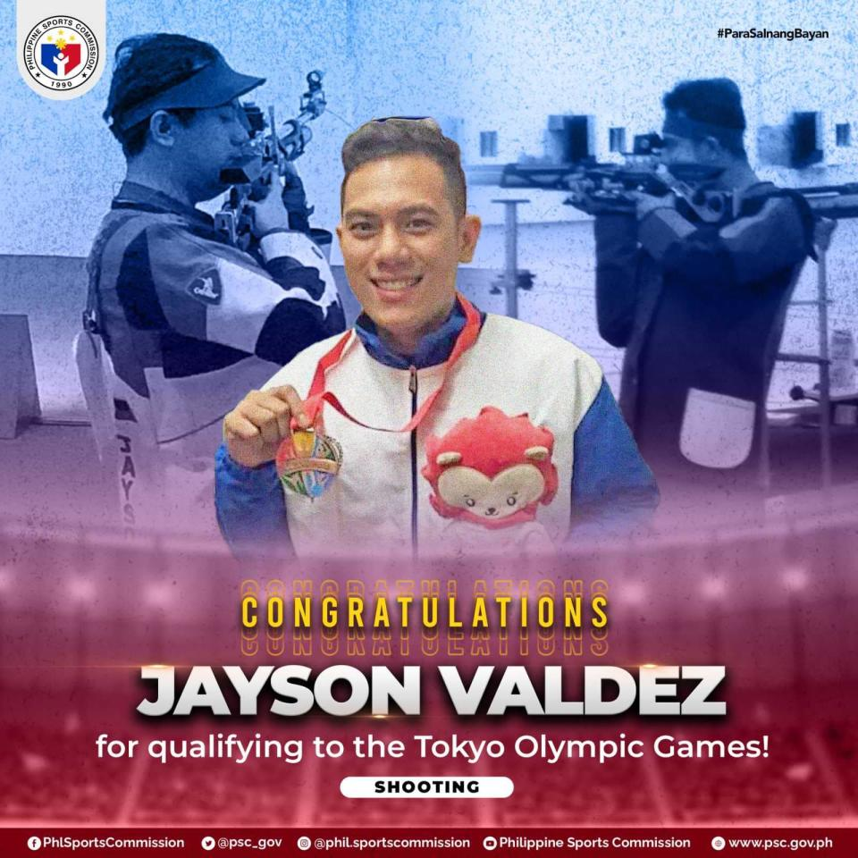 Filipino boxer Jayson Valdez is set to represent the Philippines in the Tokyo Olympics. (Photo: Philippine Sports Commission/Facebook)