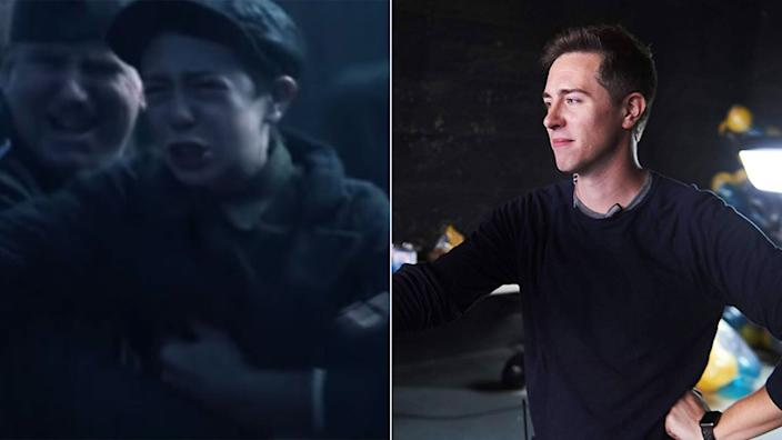 Brett Morris - young Magneto - pictured (R) on his IMDb page.