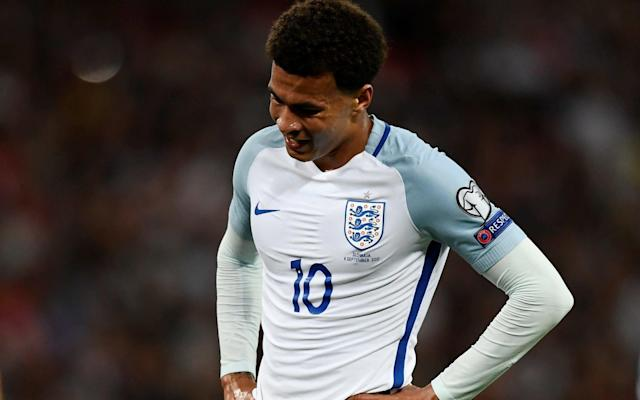 Dele Alli claims his gesture was at a team mate and not the referee