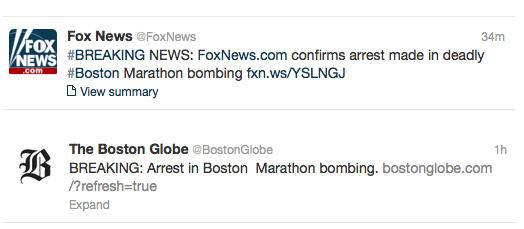 Boston Bombings: News Outlets Wrong? Or Just 'Ahead of Themselves'?