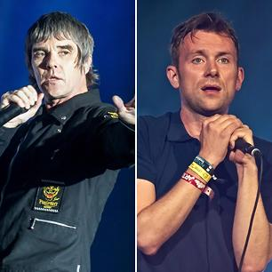 Stone Roses' Ian Brown and Blur's Damon Albarn