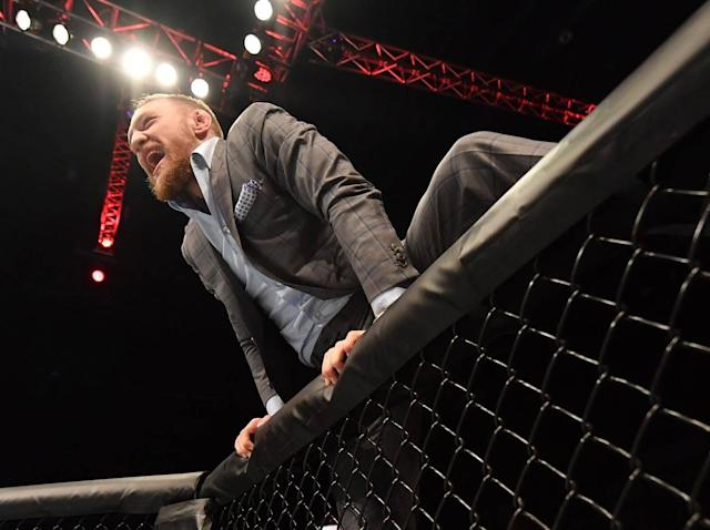 Conor McGregor lost all control on Thursday afternoon (Getty)