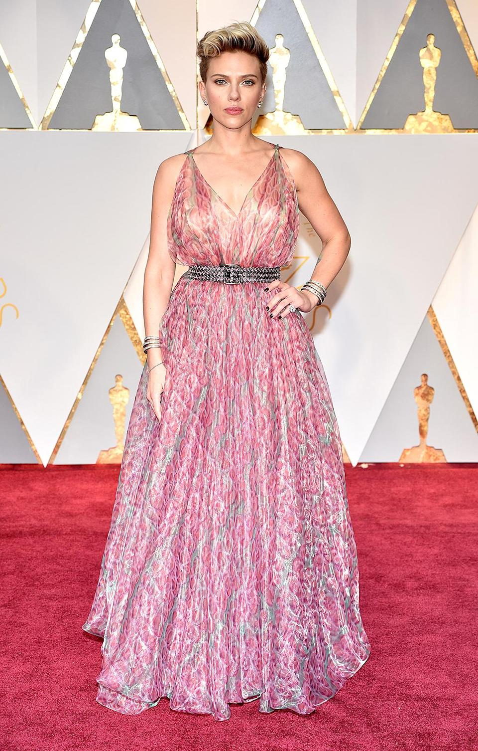 <p>Scarlett Johansson attends the 89th Annual Academy Awards at Hollywood & Highland Center on February 26, 2017 in Hollywood, California. (Photo by Kevin Mazur/Getty Images) </p>