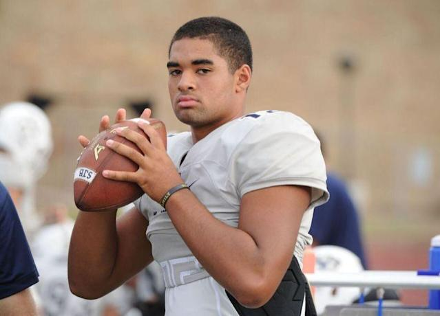 D.J. Uiagalelei is expected to be the Clemson Tigers' quarterback of the future. (Photo credit: Nicolas Lucero/Rivals)