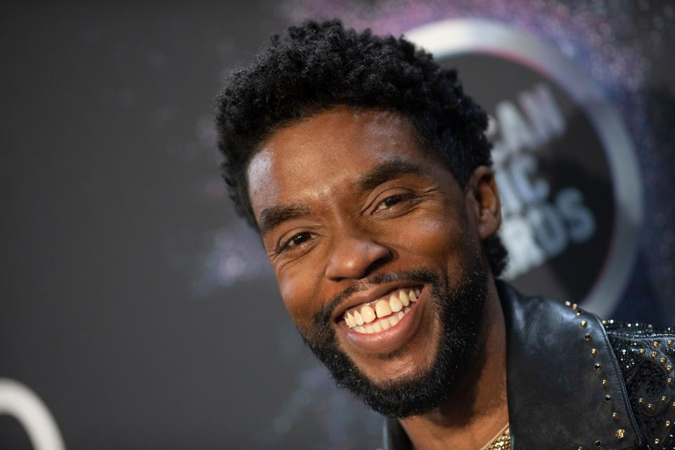 Friends, family members and co-stars are honoring actor Chadwick Boseman on what would have been the Black Panther star's 44th birthday. (Photo: VALERIE MACON/AFP via Getty Images)