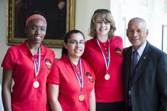 All-Girl Student Rocket Team Visits White House