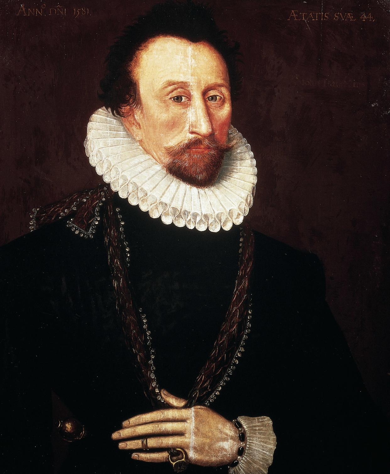 UNSPECIFIED - CIRCA 2003: Portrait of Sir John Hawkins (1532-95), cousin of Francis Drake, English privateer, slave trader and treasurer of the Royal Navy, he served as Rear Admiral against the Spanish Invecible Armada, 1588. London-Greenwich, National Maritime Museum (Photo by DeAgostini/Getty Images)
