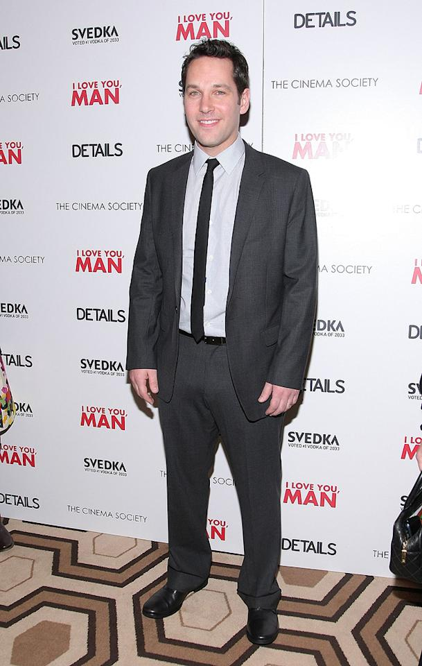 "<a href=""http://movies.yahoo.com/movie/contributor/1800018571"">Paul Rudd</a> at the New York Cinema Society screening of <a href=""http://movies.yahoo.com/movie/1810022085/info"">I Love You, Man</a> - 03/06/2009"