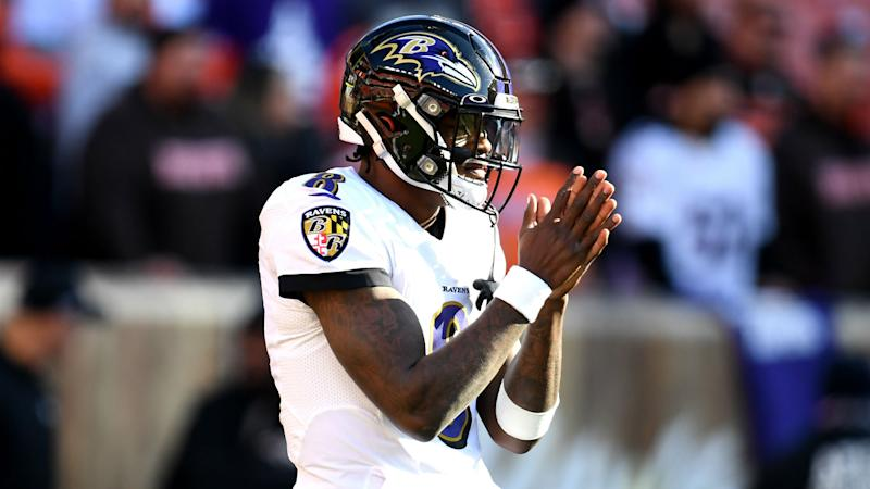 Lamar Jackson on the Browns interviewing Greg Roman: They need to chill out