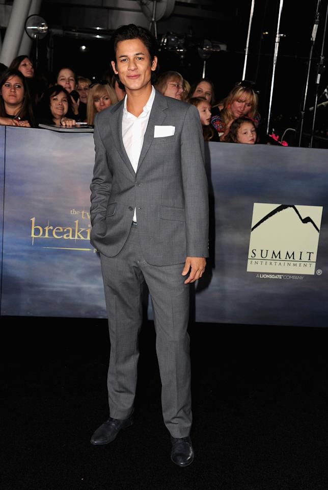 "Bronson Pelletier arrives at ""The Twilight Saga: Breaking Dawn - Part 2"" Los Angeles premiere at Nokia Theatre L.A. Live on November 12, 2012 in Los Angeles, California.  (Photo by Steve Granitz/WireImage)"