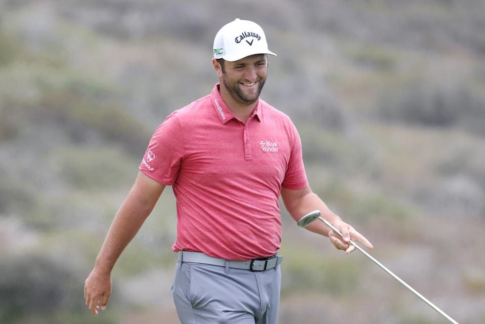 Tournament favorite Jon Rahm won his first major Sunday. (Photo by Harry How/Getty Images)