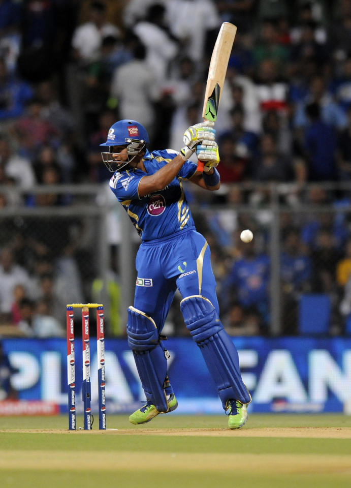 Aditya Tare of Mumbai Indians bats during match 66 of the Pepsi Indian Premier League ( IPL) 2013  between The Mumbai Indians and the Rajasthan Royals held at the Wankhede Stadium in Mumbai on the 15th May 2013 ..Photo by Pal Pillai-IPL-SPORTZPICS ..Use of this image is subject to the terms and conditions as outlined by the BCCI. These terms can be found by following this link:..https://ec.yimg.com/ec?url=http%3a%2f%2fwww.sportzpics.co.za%2fimage%2fI0000SoRagM2cIEc&t=1506215713&sig=uRD9q6Au4.Gzp2fXuhT6Xg--~D