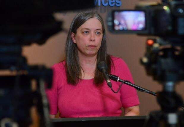 Dr. Janice Fitzgerald, the province's chief medical officer of health, announced the first presumptive case of COVID-19 in Newfoundland and Labrador on March 14, 2020. (Malone Mullin/CBC - image credit)