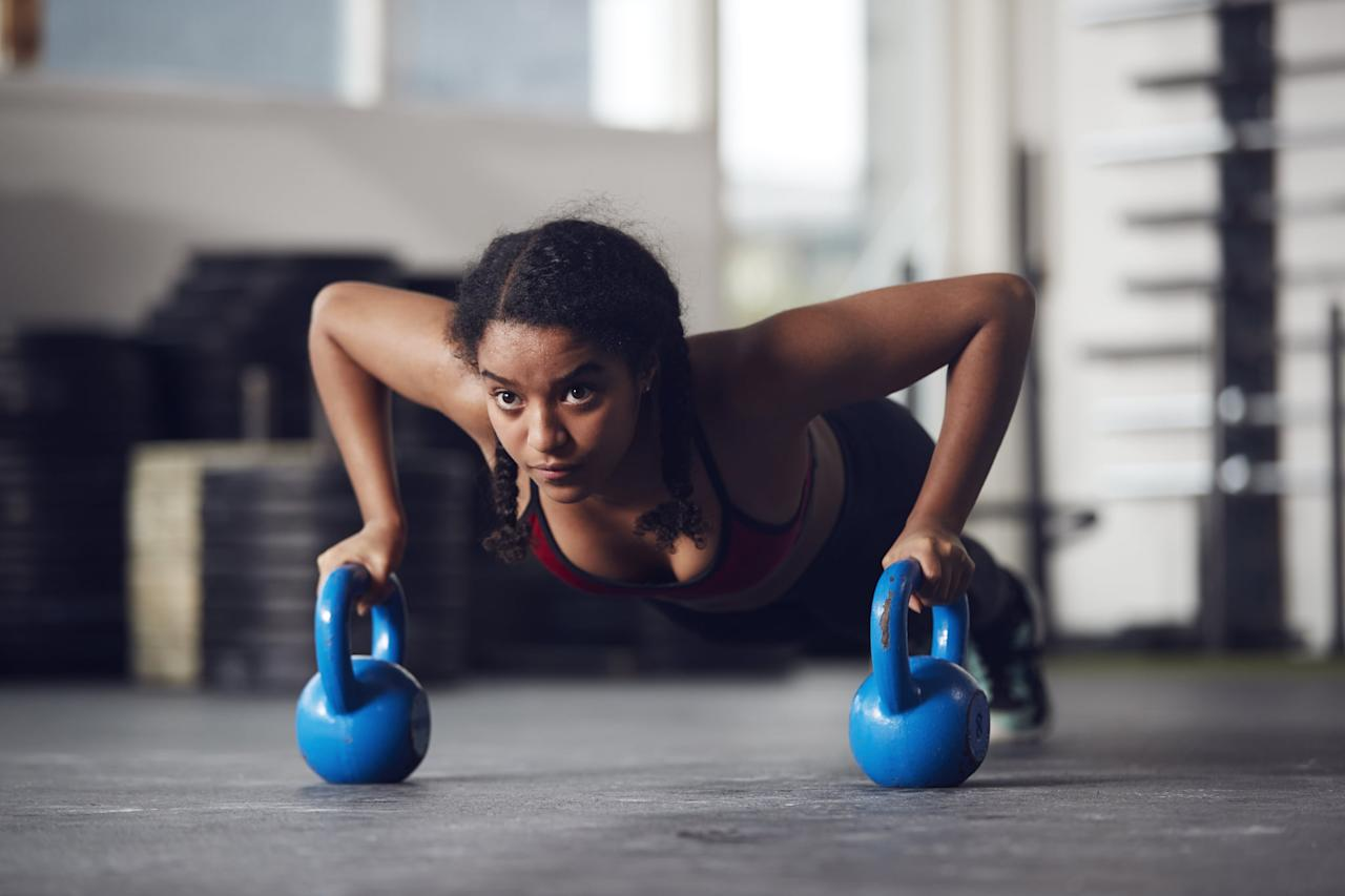 """<p>If you don't have a CrossFit box nearby, this <a href=""""https://www.popsugar.com/fitness/20-Minute-Home-CrossFit-Workout-45989757"""" class=""""ga-track"""" data-ga-category=""""Related"""" data-ga-label=""""https://www.popsugar.com/fitness/20-Minute-Home-CrossFit-Workout-45989757"""" data-ga-action=""""In-Line Links"""">20-minute at-home CrossFit workout</a> will do the job. It won't take long to complete and your legs, arms, and abs are going to be sore once it's over.</p>"""