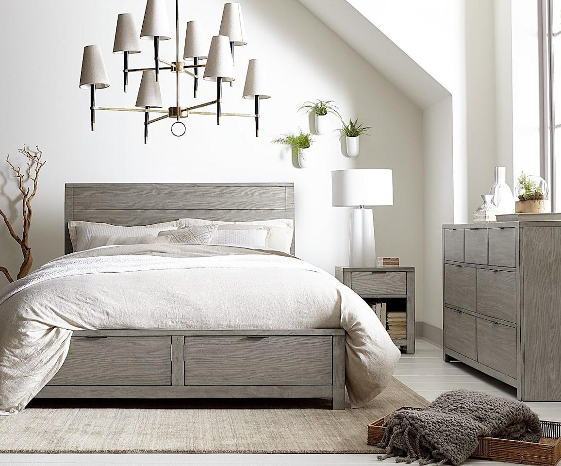 "<p>We love the style of this <a href=""https://www.popsugar.com/buy/Furniture%20Tribeca%20Storage%20Full%20Platform%20Bed-474231?p_name=Furniture%20Tribeca%20Storage%20Full%20Platform%20Bed&retailer=macys.com&pid=474231&price=499&evar1=casa%3Aus&evar9=46442269&evar98=https%3A%2F%2Fwww.popsugar.com%2Fhome%2Fphoto-gallery%2F46442269%2Fimage%2F46442486%2FFurniture-Tribeca-Storage-Full-Platform-Bed&list1=shopping%2Cfurniture%2Cbeds%2Cbedrooms%2Csmall%20space%20living%2Chome%20shopping&prop13=mobile&pdata=1"" rel=""nofollow"" data-shoppable-link=""1"" target=""_blank"" class=""ga-track"" data-ga-category=""Related"" data-ga-label=""https://www.macys.com/shop/product/tribeca-storage-full-platform-bed-created-for-macys?ID=2979851&amp;CategoryID=35420#fn=BED_STYLE%3DStorage%26sp%3D1%26spc%3D4871%26ruleId%3D78%7CBOOST%20ATTRIBUTE%7CBOOST%20SAVED%20SET%26searchPass%3DmatchNone%26slotId%3D19"" data-ga-action=""In-Line Links"">Furniture Tribeca Storage Full Platform Bed</a> ($499, originally $799).</p>"