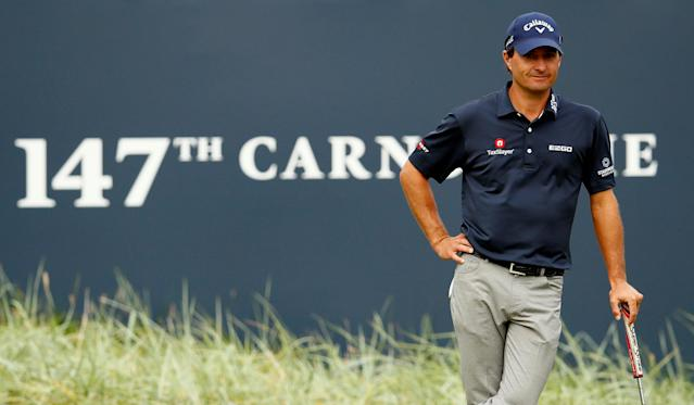 Kevin Kisner looks to bring home his first major on Sunday at the British Open. (Reuters)