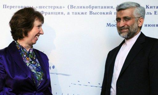 EU foreign policy chief Catherine Ashton and Iran's nuclear negotiator Saeed Jalili held talks in Moscow on June 18