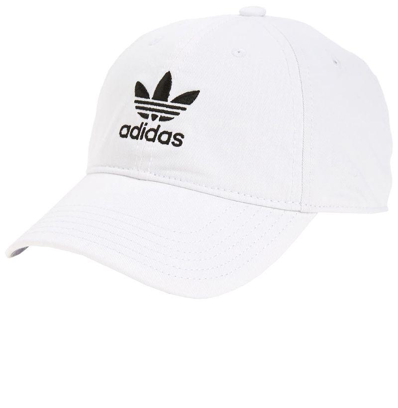 """<p><strong>ADIDAS ORIGINALS</strong></p><p>nordstrom.com</p><p><strong>$24.00</strong></p><p><a href=""""https://go.redirectingat.com?id=74968X1596630&url=https%3A%2F%2Fshop.nordstrom.com%2Fs%2Fadidas-originals-relaxed-baseball-cap%2F4506883&sref=http%3A%2F%2Fwww.esquire.com%2Fstyle%2Fmens-fashion%2Fadvice%2Fg2964%2Fwhite-after-labor-day%2F"""" target=""""_blank"""">SHOP</a></p><p>White accessories lighten up any wardrobe. Wear this to the beach, barbecue, and baseball games. </p>"""