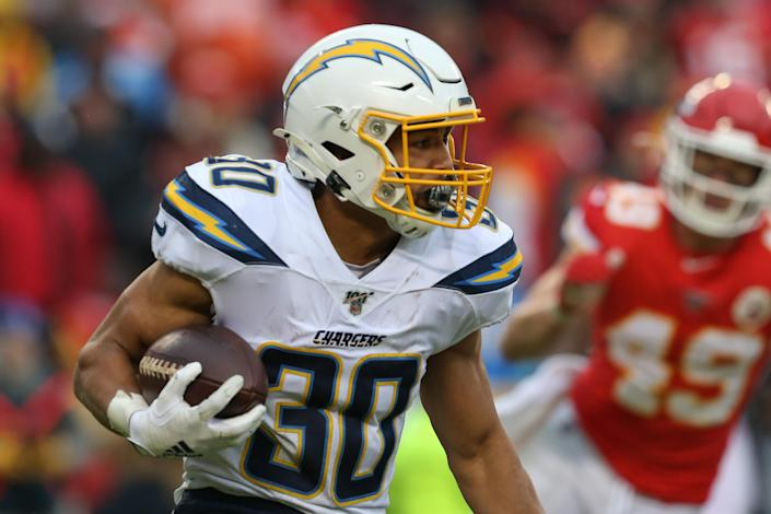 Austin Ekeler has league-winning upside again this season. (Photo by Scott Winters/Icon Sportswire via Getty Images)