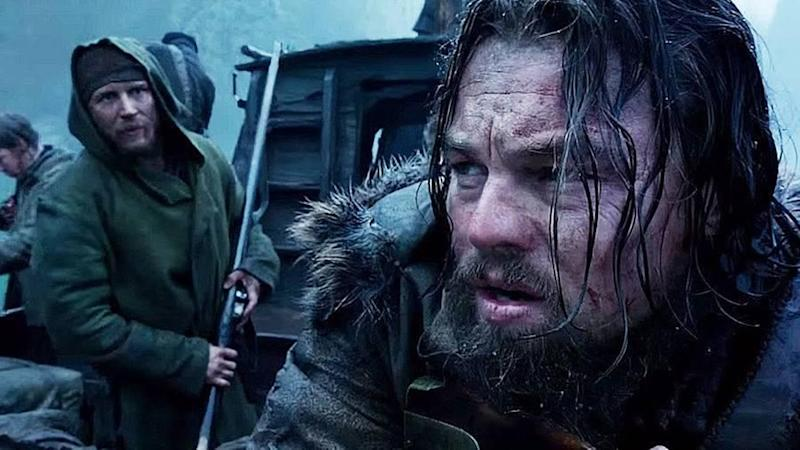 Tom Hardy and Leonardo Dicaprio starring in The Revenant. Source: Supplied