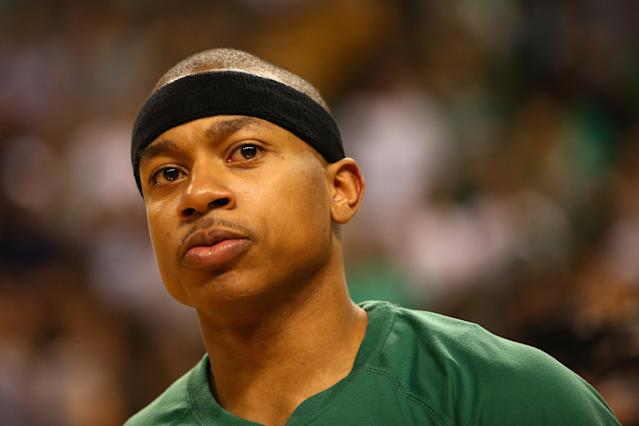 "<a class=""link rapid-noclick-resp"" href=""/nba/players/4942/"" data-ylk=""slk:Isaiah Thomas"">Isaiah Thomas</a> is still not 100 percent after a significant injury, and entering a contract year. (Getty Images)"