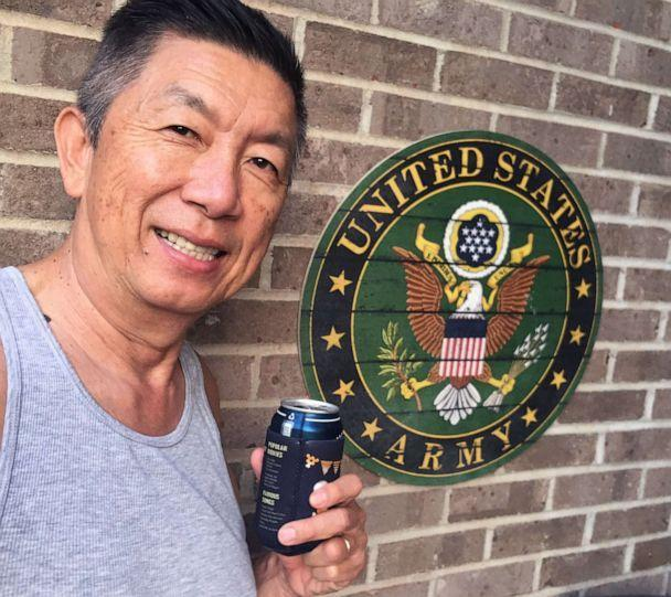 PHOTO: Lee Wong, a Westchester, Ohio board member, shared this photo of himself posing with the U.S. Army seal. (Courtesy Lee Wong)