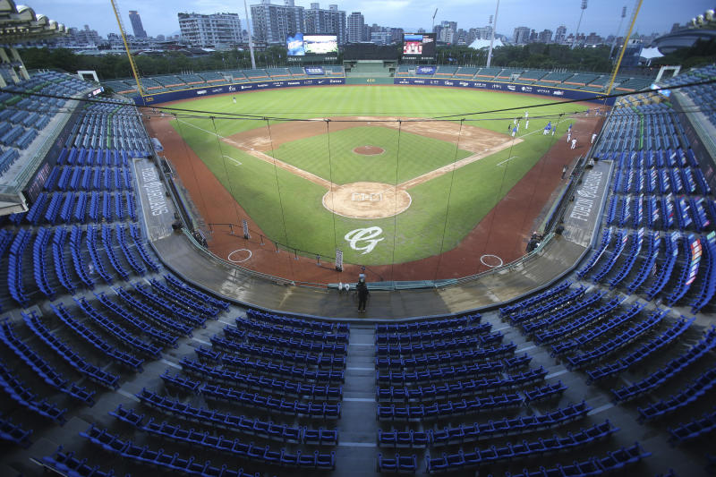 Baseball in full swing in Taiwan, even in empty stadiums