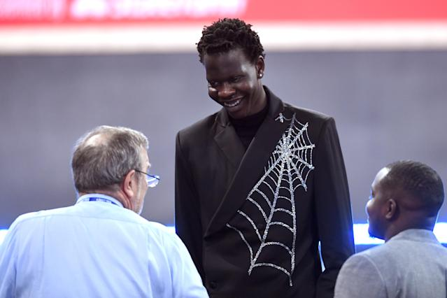 The Nuggets drafted the son of former NBA standout Manute Bol on Thursday night with the No. 44 overall pick. (Sarah Stier/Getty Images)