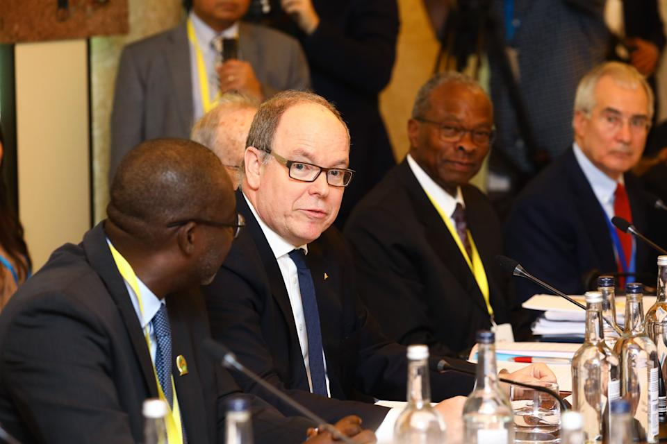 Prince Albert of Monaco attends the WaterAid charity's Water and Climate event in London.