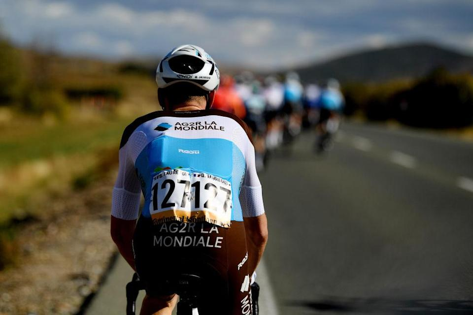 EJEADELOSCABALLEROS SPAIN  OCTOBER 23 Quentin Jauregui of France and Team AG2R La Mondiale  during the 75th Tour of Spain 2020 Stage 4 a 1917km stage from Garray  Numancia to Ejea de los Caballeros  lavuelta  LaVuelta20  La Vuelta  on October 23 2020 in Ejea de los Caballeros Spain Photo by David RamosGetty Images