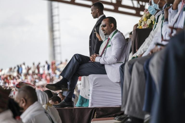 Prime Minister Abiy Ahmed's Prosperity Party scored a landslide win in June elections (AFP/EDUARDO SOTERAS)