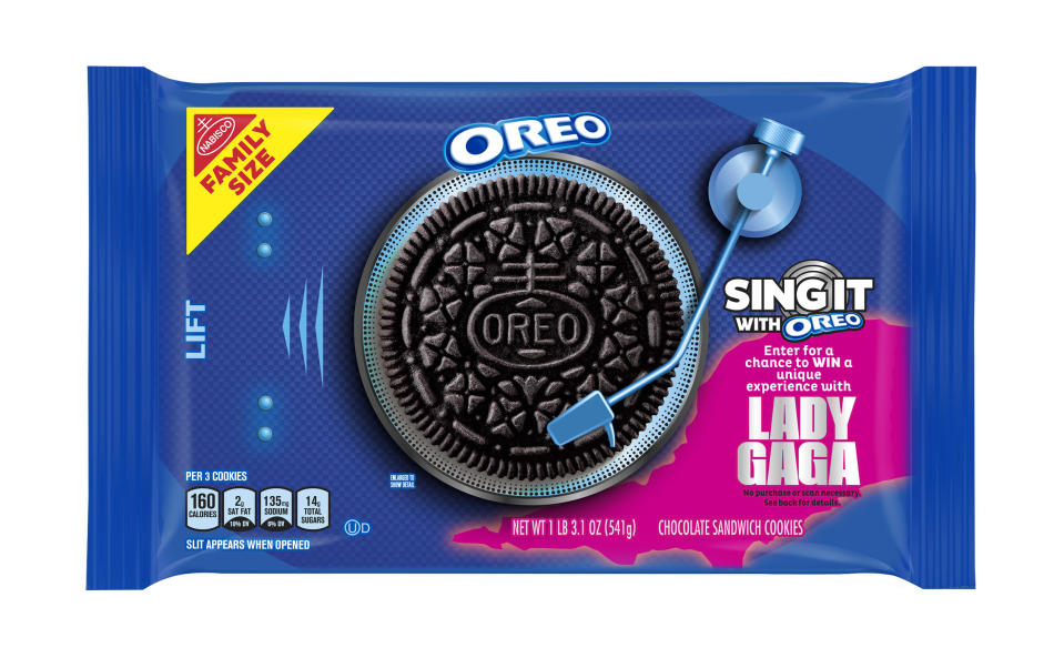 We want to go over the chance to meet Lady Gaga.  (Oreo)