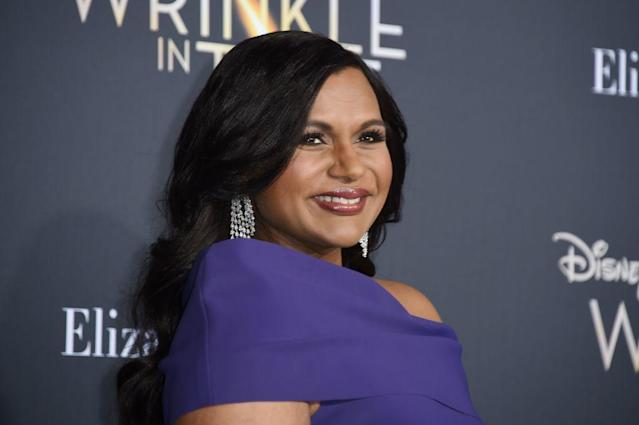 Mindy Kaling is on a press tour for 'A Wrinkle in Time' nearly two-months after giving birth. (Photo: Getty Images)