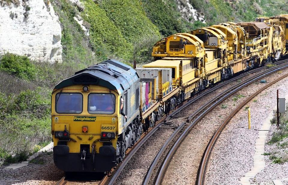 The rail industry is claiming a surge in the movement of goods by train shows it can help ensure supermarket shelves remain stocked during the lorry driver shortage (Gareth Fuller/PA) (PA Archive)