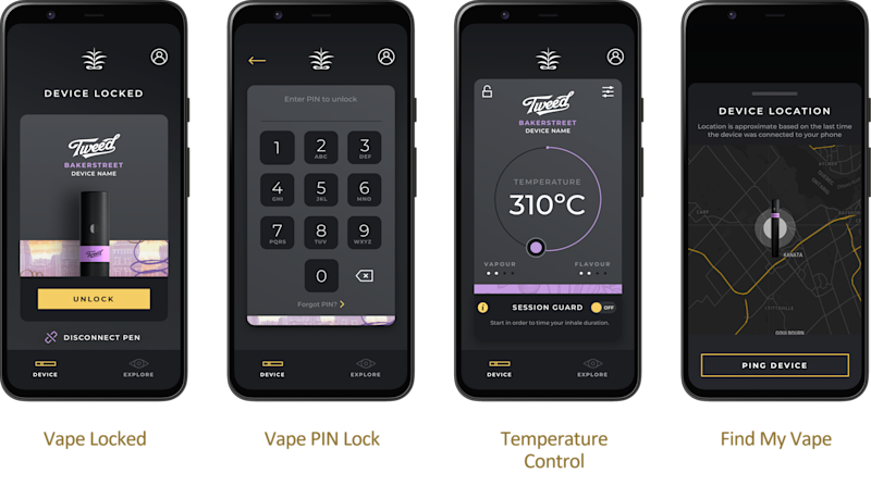 Canopy Growth's latest vape products will connect to an Android app. (Provided)