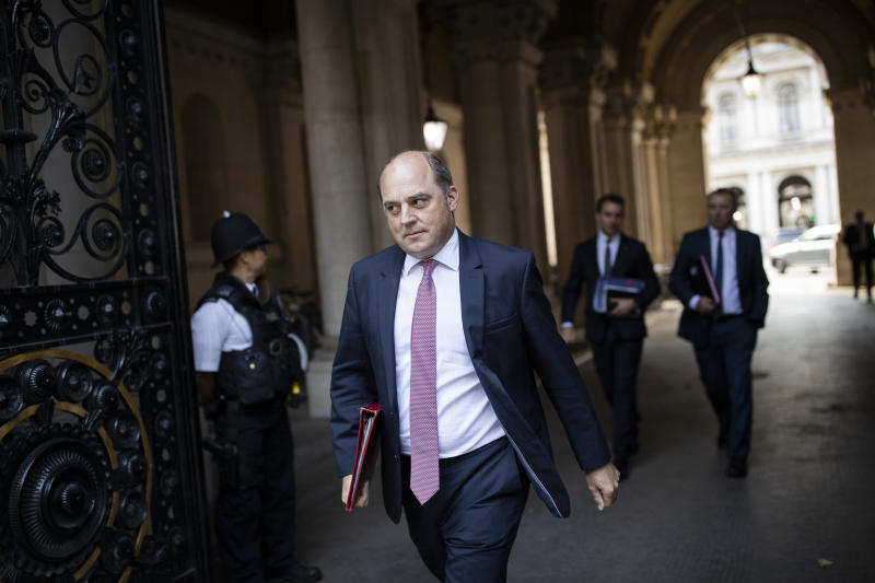 LONDON, ENGLAND - SEPTEMBER 01: Ben Wallace, Secretary of State for Defence arrives back on Downing Street after a Cabinet meeting in the FCO on September 01, 2020 in London, England. MPs returned to Westminster today following the summer recess. (Photo by Dan Kitwood/Getty Images)