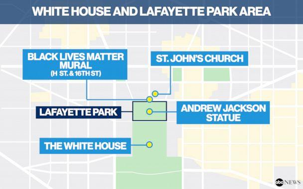 PHOTO: White House and Lafayette Park area (ABC News)