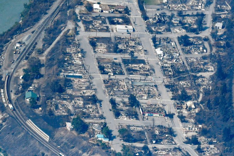 FILE PHOTO: Town of Lytton destroyed by a wildfire