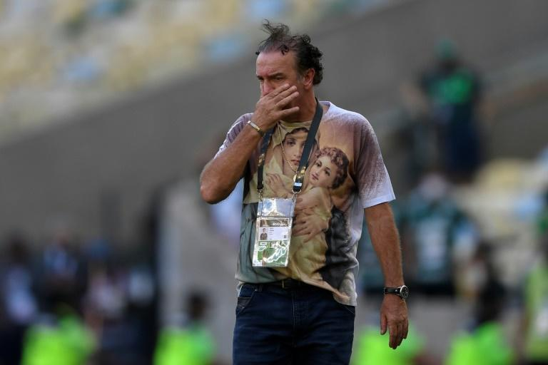 Santos coach Cuca was sent off after a clash with Palmeiras' Marcos Rocha deep into added-on time