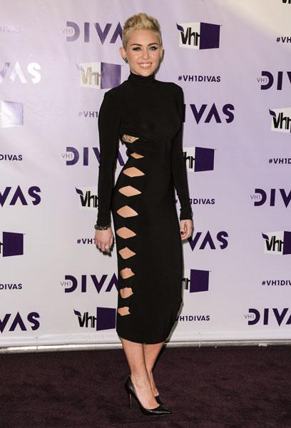 <b>LBDs with a twist: Miley Cyrus, Dec 2012 </b><br><br>The US singer showed off some skin in this daring cut-out dress at the VH1 Divas event.<br><br>© Rex