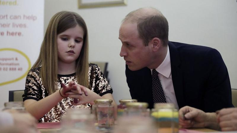 Prince William Consoles Grieving Girl: I Lost My Mummy Too