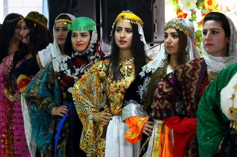 Syrian Kurds could not wear their clothing in public in the past under restrictions on the minority that also banned their language and denied them Syrian nationality