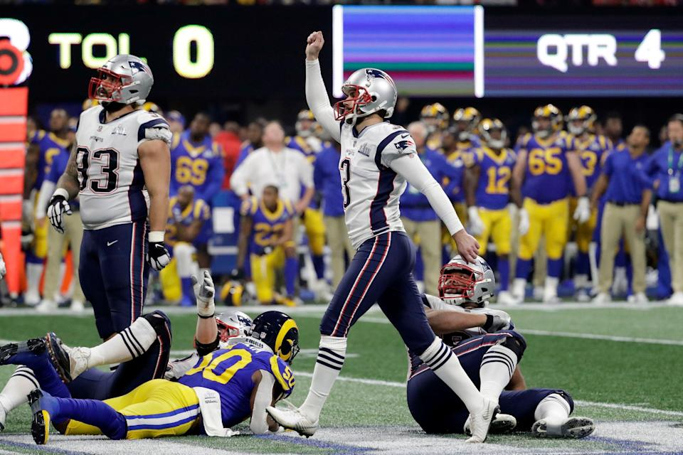The San Francisco 49ers are reportedly showing interest in veteran kicker Stephen Gostkowski, who has spent his whole career with the Patriots. (AP)